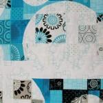 Detail from Retro Bubbles Lap Quilt